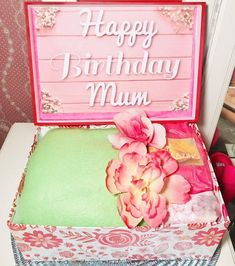 Gift for Mum. Personalised Box, Personalized Gifts, Birthday Care Packages, Mum Birthday Gift, Custom Banners, Gifts For Mum, Fake Flowers, Custom Boxes, Bride Gifts