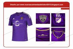 Nuevas camisetas de futbol 2014 2015 2016: Adidas Camiseta del Orlando City para la temporada 2015 2016