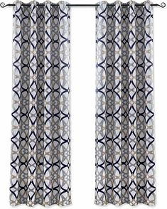 DriftAway Alexander Thermal Blackout Grommet Unlined Window Curtains Spiral Geo #DriftAway #ShabbyChic