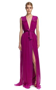 Sophie Theallet Stretch Crepe V-Neck Gown....LOVE THIS COLOR