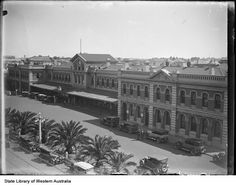 Perth Railway Station in Western Australia in State Library of Western Australia. Western Australia, Perth, Westerns, Scenery, Louvre, History, Building, Travel, Historia