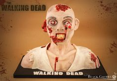 The Walking Dead Zombie Cake - by littlecherry @ CakesDecor.com - cake decorating website