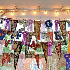 Vintage Collegiate Wedding | Decorations | SouthernLiving.com