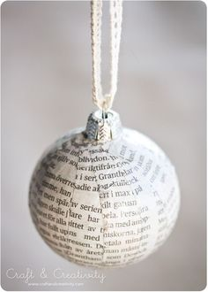 Christmas bauble makeover - by Craft & Creativity
