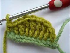 Crochet Hojas Paso a Paso... - YouTube