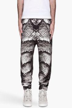 CHRISTOPHER KANE Grey Creature print sweatpants