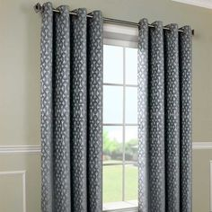Bring elegance to your window covering with the Rope Swirl Chenille grommet panel. Tab Top Curtains, Grommet Curtains, Drapes Curtains, Window Coverings, Window Treatments, Tie Up Shades, Futon Covers, Chenille, Draped Fabric
