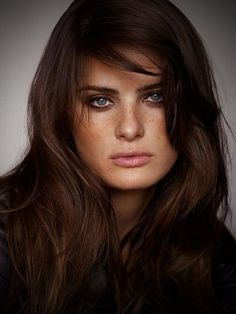 Dark Brown Hair Color Blue Eyes - Best Hair Color for Ethnic Hair Check more at http://www.fitnursetaylor.com/dark-brown-hair-color-blue-eyes/