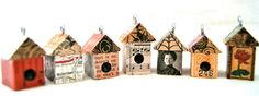 Birdhouse - House Parts ONLY - Birdhouse Pendant Necklace Ornament - DIY - Art By Heather