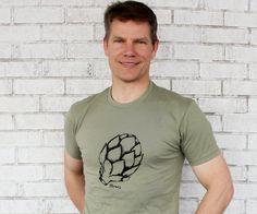 Mens Artichoke Tshirt Screenprinted Vegtable T by CausticThreads, $20.00