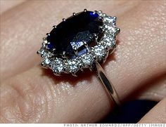Kate Middleton's Engagement Ring; formerly the engagement ring of Diana, Princess of Whales