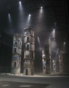 minimal exposition: anselm kiefer: i sette palazzi celesti Anselm Kiefer, Stage Set Design, Set Design Theatre, Land Art, Conception Scénique, Bühnen Design, Design Ideas, Instalation Art, Theater