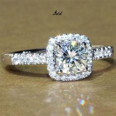 A Perfect 1.9CT Asscher Cut Halo Russian Lab Diamond Ring - Joy of London Jewels