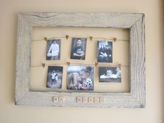 I saw this and thought I would make my own version with an old barnwood frame, some rusty heart wire and old scrabble pieces.  MY WORLD