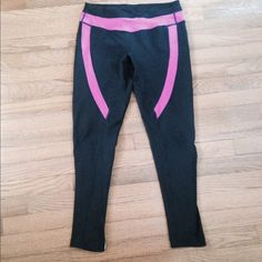 Zella leggings, black with purple trim Zella black & purple leggings. Great condition! Matches the Zella jacket I have listed in my closet. Purchase together for a better price! Zella Pants Leggings