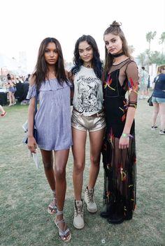 Jasmine Tookes, Shanina Shaik, Taylor Hill at Coachella 2016 | Spell Blog
