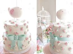 Pin for Later: This Bird-Themed Party Is Perfect For Your Spring Celebration Shabby Chic Birthday, Shabby Chic Baby Shower, Christening Party, Baptism Party, Bird Birthday Parties, 2nd Birthday, Birthday Ideas, Baby Showers, Baby Girl Baptism