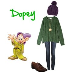 """Dopey - Snow White and the 7 dwarfs"" by disney-inspired-outfits on Polyvore"