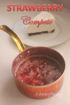 Super delicious strawberry compote which taste amazing with cheesecakes, pancakes, french toast or over icecream and desert. Strawberry Pancakes, Fruit Compote, Sweet Champagne, Pink Champagne Cake, Cheesecake Recipes, Dessert Recipes, Yummy Recipes, Compote Recipe, Desert Recipes