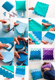 Image discovered by Bere_nyce \(^o^\). Find images and videos about diy, colores  and free crafts on We Heart It - the app to get lost in what you love. Kids Crafts, Diy Crafts Hacks, Diy Home Crafts, Felt Crafts, Sewing Crafts, Sewing Projects, Diy Projects, Mermaid Room Decor, Mermaid Bedroom
