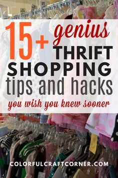 Do you like thrift shopping, but you usually go home empty handed? With these actionable tips you can become more successful while strolling through your favorite second hand store, looking for clothes to upcycle or refashion. #thriftstoreshopping #thrifting #clothesupcycle #refashioning Thrift Store Shopping, Shopping Hacks, Dawn Dishwashing Liquid, Hack Attack, Clothes Refashion, Second Hand Stores, Refashioning, Color Crafts, Craft Corner