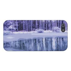 Blue Winter Pond Cover For iPhone 5