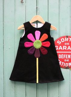 - Coral + dress dress sewing ideas for children free cut pattern free guideRobe Marguerite tout velor for Petite Fille. African Dresses For Kids, Little Girl Dresses, Baby Dresses, Frocks For Girls, Kids Frocks, Fashion Kids, Kids Dress Wear, Dress Girl, Daisy Dress