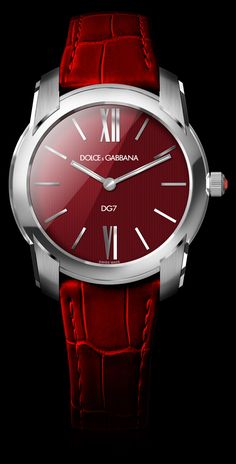 Womens Watch - Steel with Bordeaux Dial - DG Watches | Dolce Gabbana Watches for Men and Women | Raddest Men's Fashion Looks On The Internet: http://www.raddestlooks.org