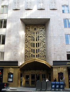 ... themed tiles decorate the Art Deco 450 Sutter Street in San Francisco
