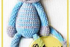 Conejito amigurumi crochet patrón libre - Patrones de amigurumi gratis, patrones de ganchillo amigurumi Tweety, Smurfs, Free Pattern, Dinosaur Stuffed Animal, Winter Hats, Toys, Animals, Character, Crochet Dolls