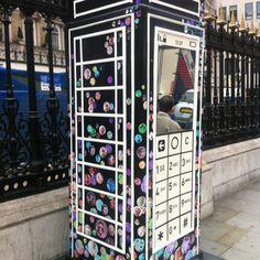 London phone box art