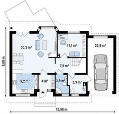 Casa de 1 andar 3 quartos e garagem