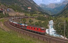 Swiss Railways, Electric Locomotive, Outdoors, Train, Beautiful Landscapes, Trains, Zug, Outdoor, Strollers
