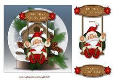 Snowglobe Santa on a swing - CUP729056_936   Craftsuprint