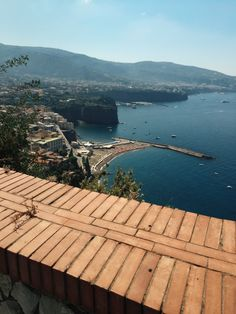 the view when you arrive to sorrento. italy travel and food