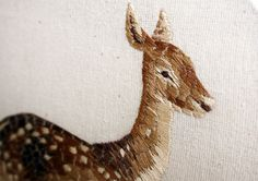 Chloe Giordano, a talented illustrator and embroiderer in Oxford, England, creates tiny embroidered animals that are full of texture and life. What's striking about her embroidered pieces, besides her painstaking attention to these animals' rich colors, is their size. Most of these animals are not much larger than a thimble, which puts the amazing detail and color of her work into perspective.