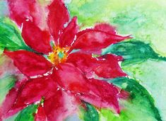 Simple Watercolor Christmas Cards | this is one of the first christmas cards i ever made even before ...