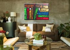 Abstract Painting of Books  The Pages of History  by BrittsFineArt, $315.00