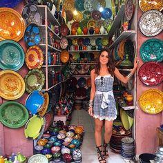Good night with another image from today at Medina! Had so much fun there!  #Marrakech -------- Boa noite com mais uma imagem do meu dia hoje na Medina! Me diverti muito nas lojinhas. (Gravamos Vlog de toda a minha experiência por aqui e os highlights da nova coleção de @riachuelo que está lindaaa!)