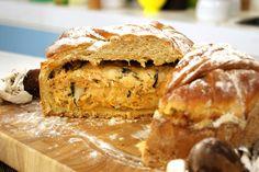 Pão Rústico Recheado com Frango e Cogumelos   Receitas   Dia Dia