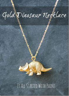 Dinosaur Necklace tutorial - imagine the possibilities!