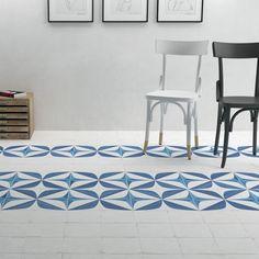 Crafted Blanc Bleu Leaf Matt Porcelain tile - Verona