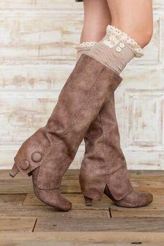 Teague Lace Boot Cuffs