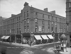 Central Hotel South Great Georges Street , junction with Exchequer Street - Ireland Pictures, Old Pictures, Old Photos, Vintage Photos, Dublin Street, Dublin City, Irish Independence, Photo Engraving, Ireland Homes