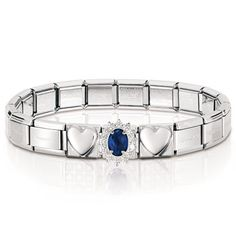 ROYAL bracelet in stainless steel, sterling silver and cubic zirconia Official Nomination eshop on line - Nomination Nomination Charms, Nomination Bracelet, Jewelry Bracelets, Jewellery, Jewelry Collection, Sterling Silver, Classic, Bands, Bucket