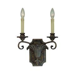 Jeremiah Lighting 25522-BBZ 2 Light Ferentino Wall Sconce, Burleson Bronze