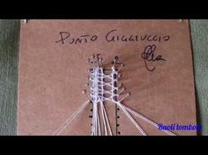 Really good tutorials (in Italian) Lace Saree, Plastic Canvas Stitches, Bobbin Lace Patterns, Crochet Lace Edging, Lacemaking, Lace Heart, Point Lace, Lace Jewelry, Macrame Tutorial