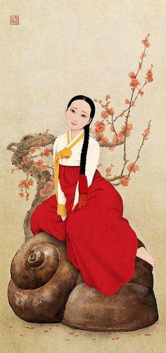 Ideas clothes illustration korean traditional for 2019 Korean Traditional Clothes, Traditional Art, Traditional Outfits, Korean Illustration, Illustration Art, Korean Art, Asian Art, Korea Dress, Korean Painting