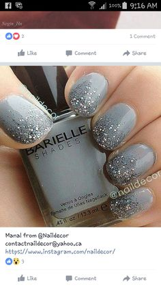 gel nail designs for winter glitter 2018 Nagellack 2018 Beautiful Nails Art Design Ideas: You can try it NOW Ombre Nail Designs, Short Nail Designs, Designs For Nails, Winter Nail Designs, Nail Designs With Glitter, Unique Nail Designs, Gel Polish Designs, Awesome Designs, Stylish Nails