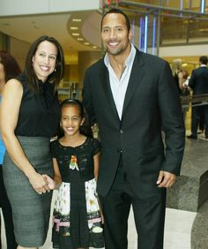 Dwayne Johnson, The Rock with his ex-wife, mother and daughter Dwayne Johnson The Rock, Dwayne Johnson Family, Rock Johnson, Dwayne The Rock, Black Celebrity Gossip, Black Celebrity News, Celebrity Kids, The Rock Wife, Wwe The Rock